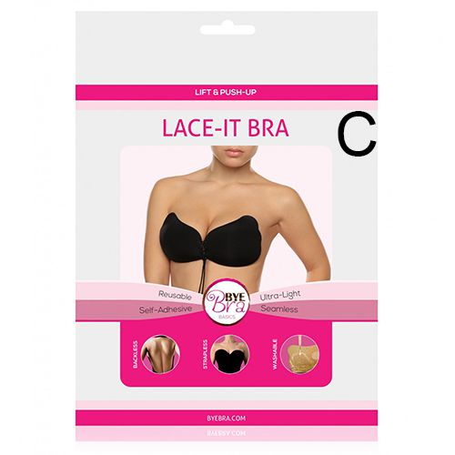 BYE BRA Lace-it Bra in Schwarz Cup C
